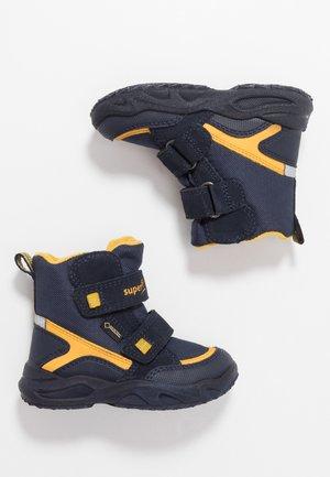 GLACIER - Winter boots - blau/gelb