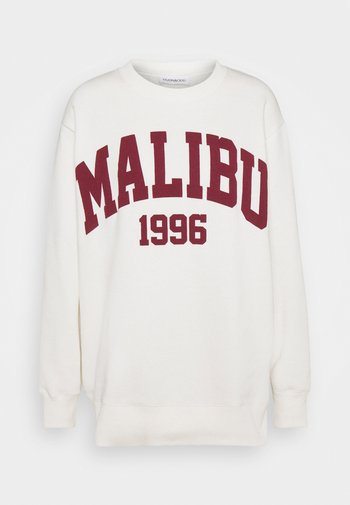 MALIBU College Print Oversized long sweatshirt - Sweatshirt - off white