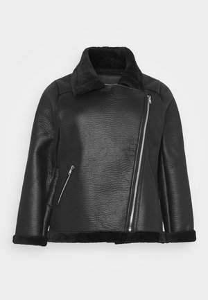 ANDY AVIATOR UPDATE - Faux leather jacket - black