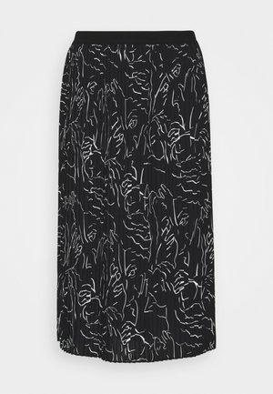 RISHA - Áčková sukně - black