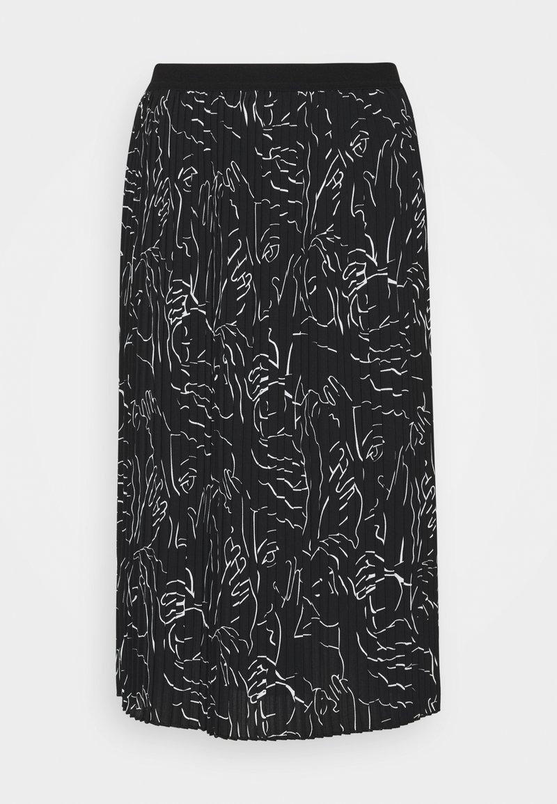 Opus - RISHA - Áčková sukně - black