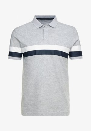 Polo shirt - mottled light grey