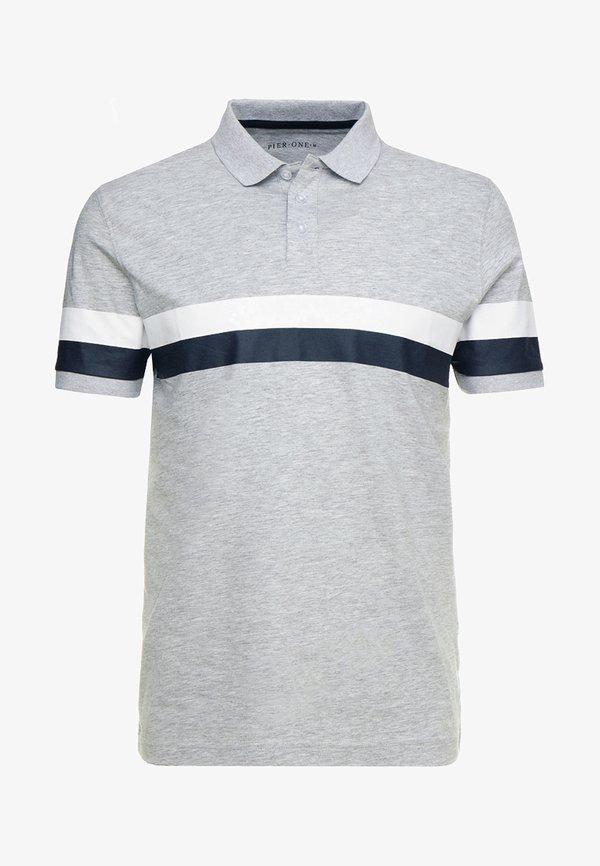 Pier One Koszulka polo - mottled light grey/jasnoszary melanż Odzież Męska SJTP