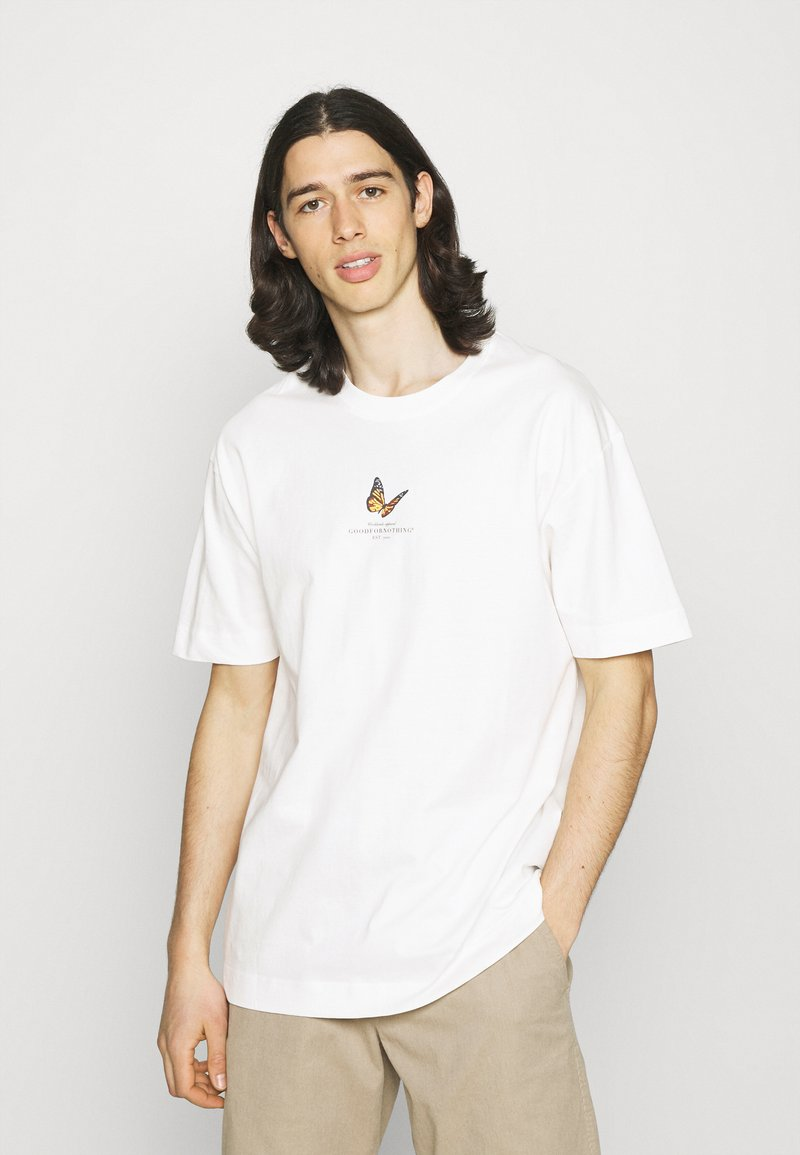 Good For Nothing - BUTTERFLY - Print T-shirt - white