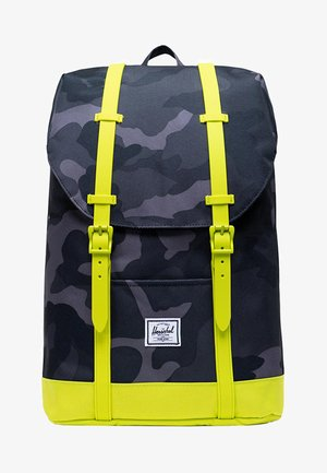 Rucksack - night camo/lime punch