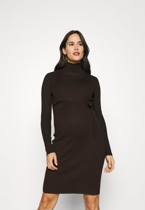 MLJACINA ROLLNECK DRESS - Jumper dress - coffee bean