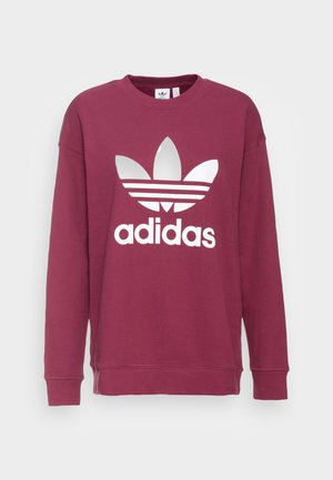 ADICOLOR TREFOIL LONG SLEEVE - Sweatshirt - bordeaux