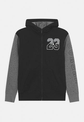 AIR SPECKLE - Zip-up sweatshirt - black