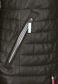 Oakwood - Leather jacket - khaki - 3