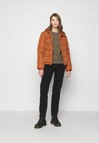 ONLY - ONLSOFIA LEO - Sweatshirt - black/animal dark brown - 1