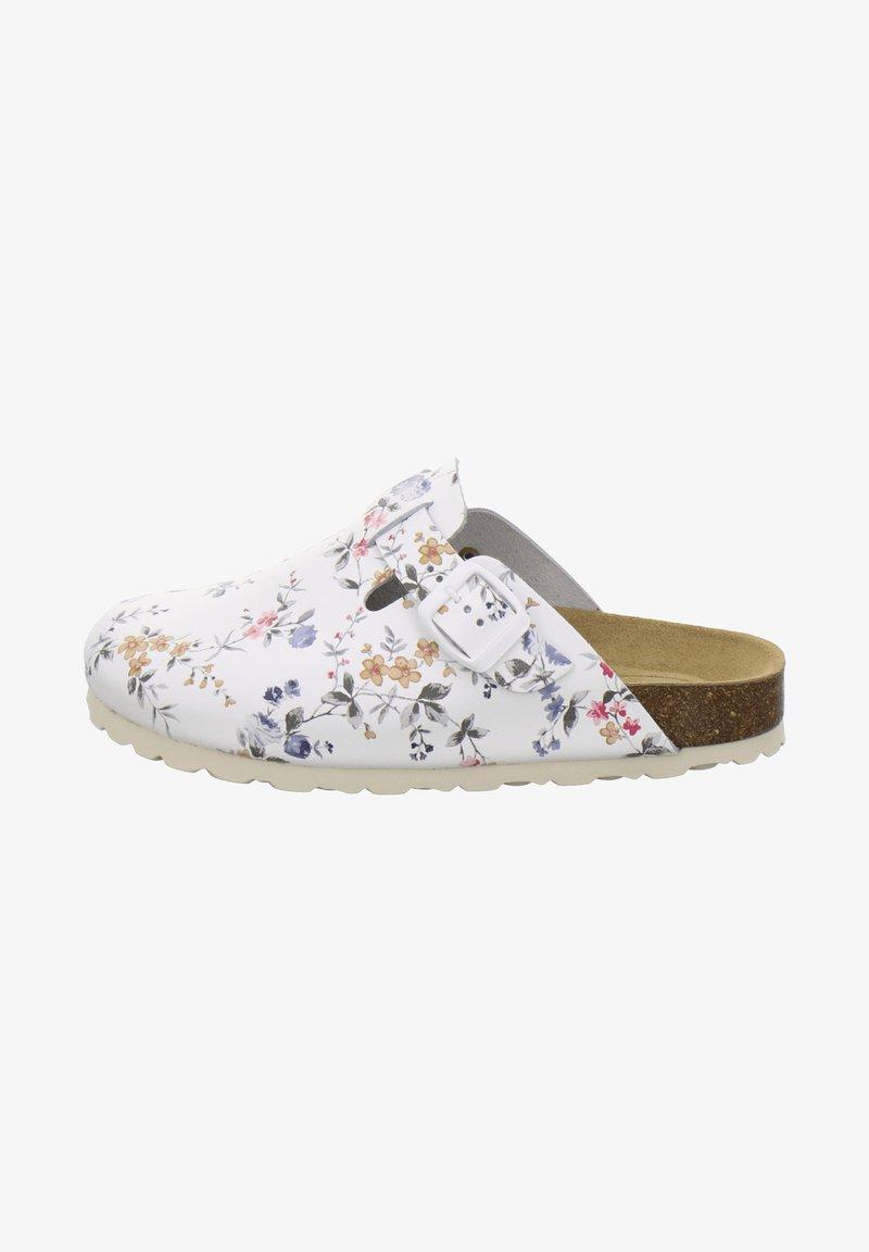 AFS Schuhe - Mules - weiß flower