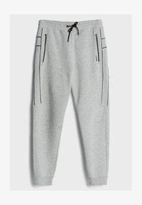 Bershka - REFLEKTIERENDE - Tracksuit bottoms - light grey - 4