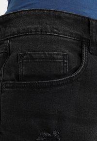 Redefined Rebel - OSLO DESTROY  - Denim shorts - sbit black - 4