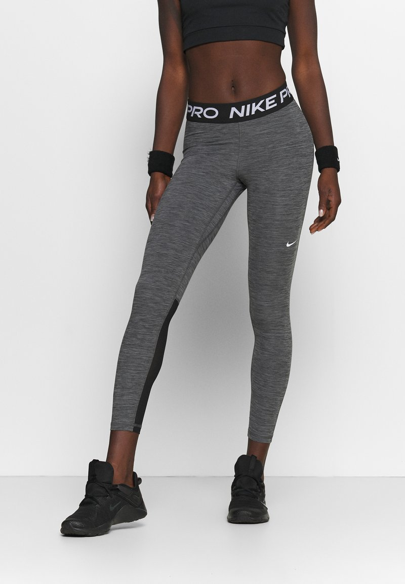 Nike Performance - Leggings - black/heather/white