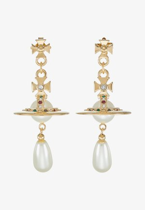 PEARL DROP EARRINGS - Boucles d'oreilles - rhodium