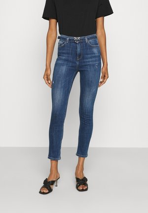 SUSAN CROSS - Skinny džíny - mediu blue denim