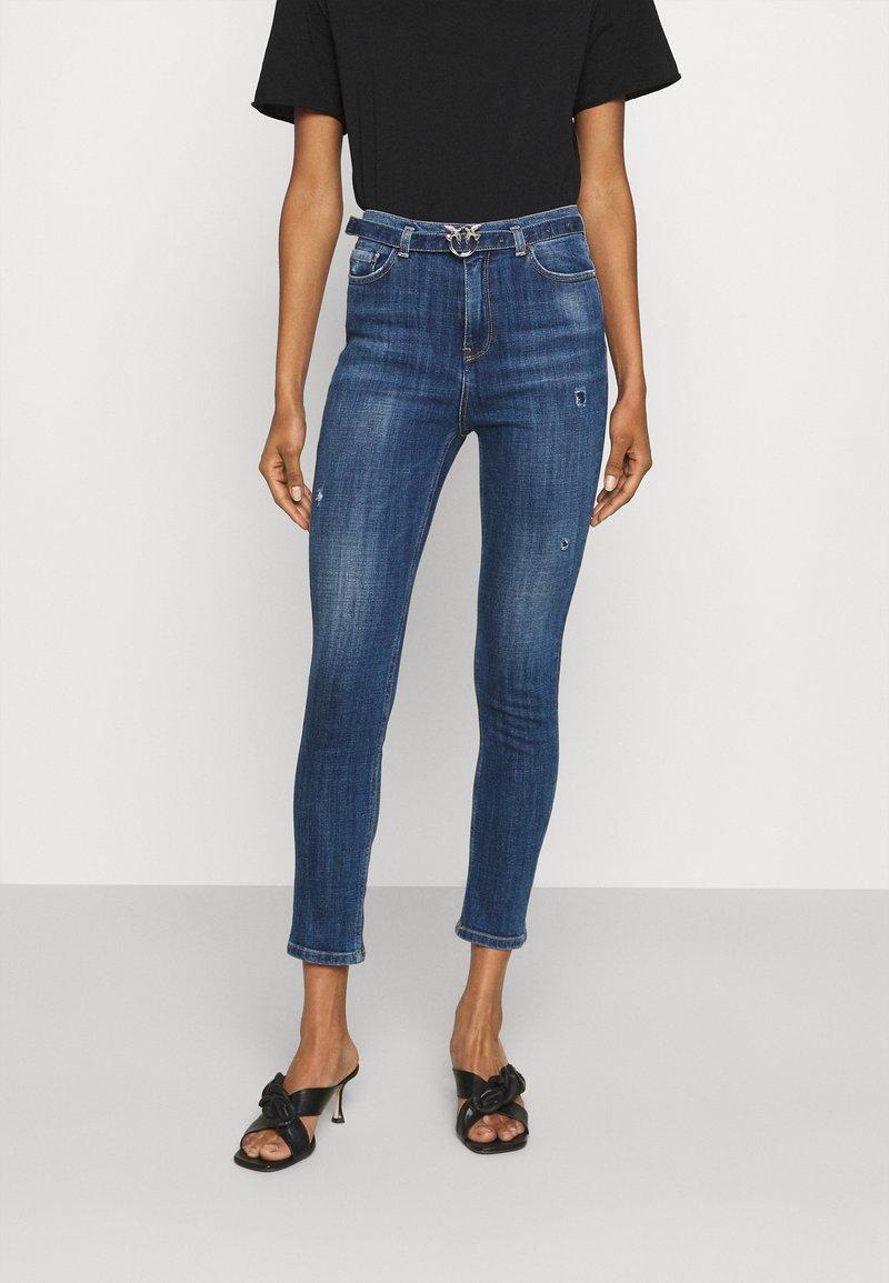 Pinko - SUSAN CROSS - Jeans Skinny Fit - mediu blue denim
