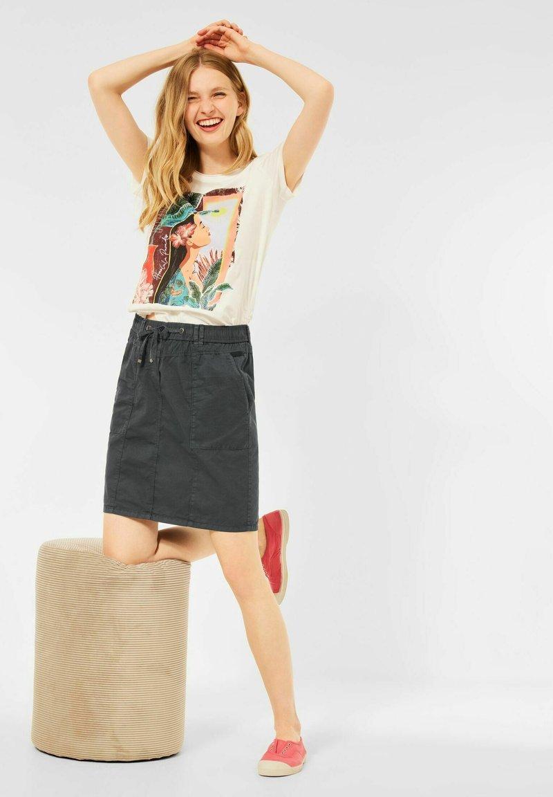 Cecil - Mini skirt - grau