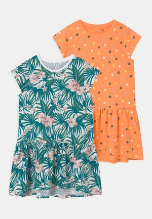 NKFVIGGA 2 PACK - Jersey dress - cantaloupe