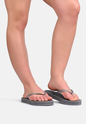 SLIM FLATFORM  - Pool shoes - grey