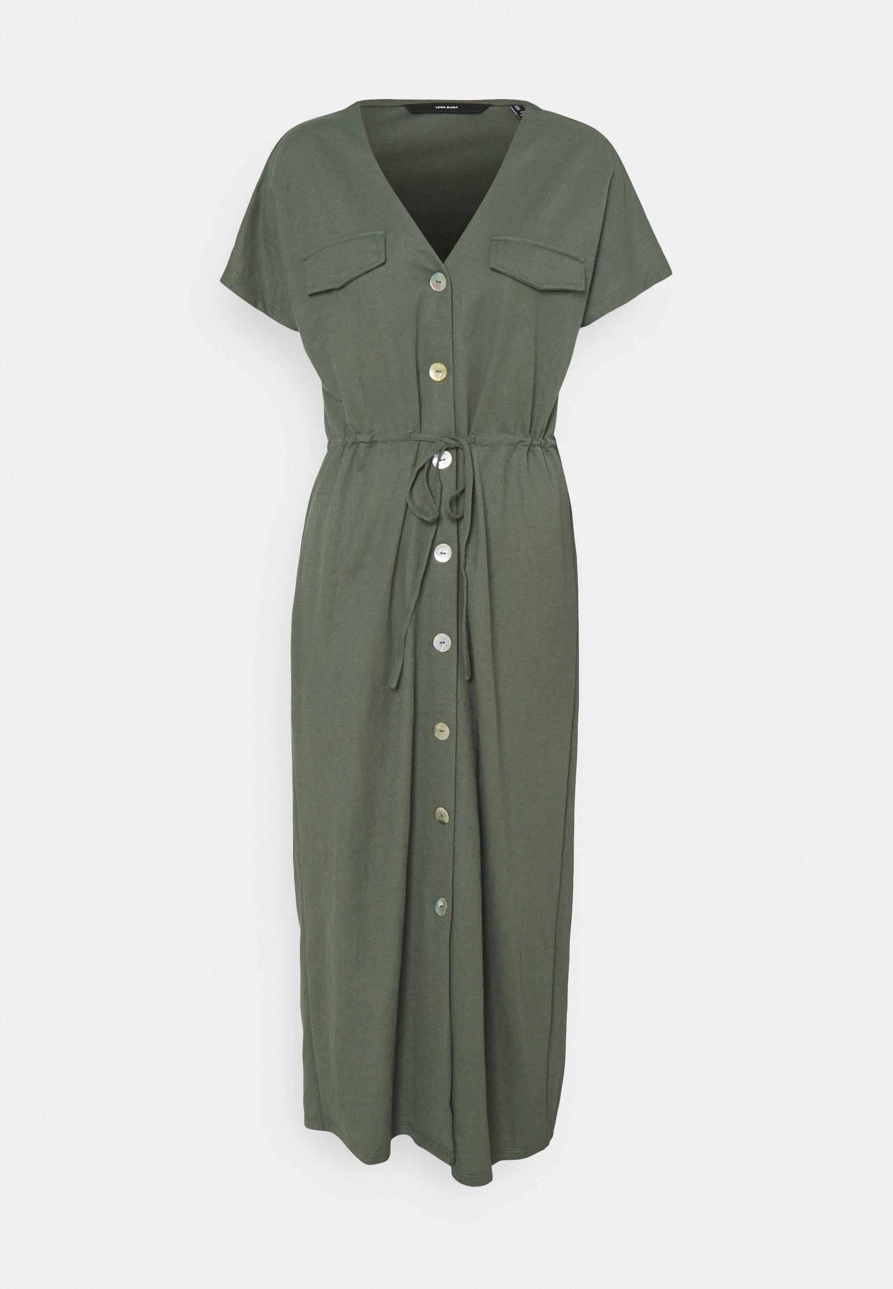 Women VMINAMARIA SS WIDE CALF DRESS - Maxi dress