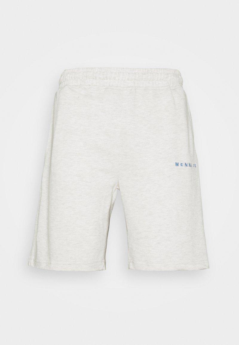 Mennace - ESSENTIAL REGULAR UNISEX - Shorts - light grey