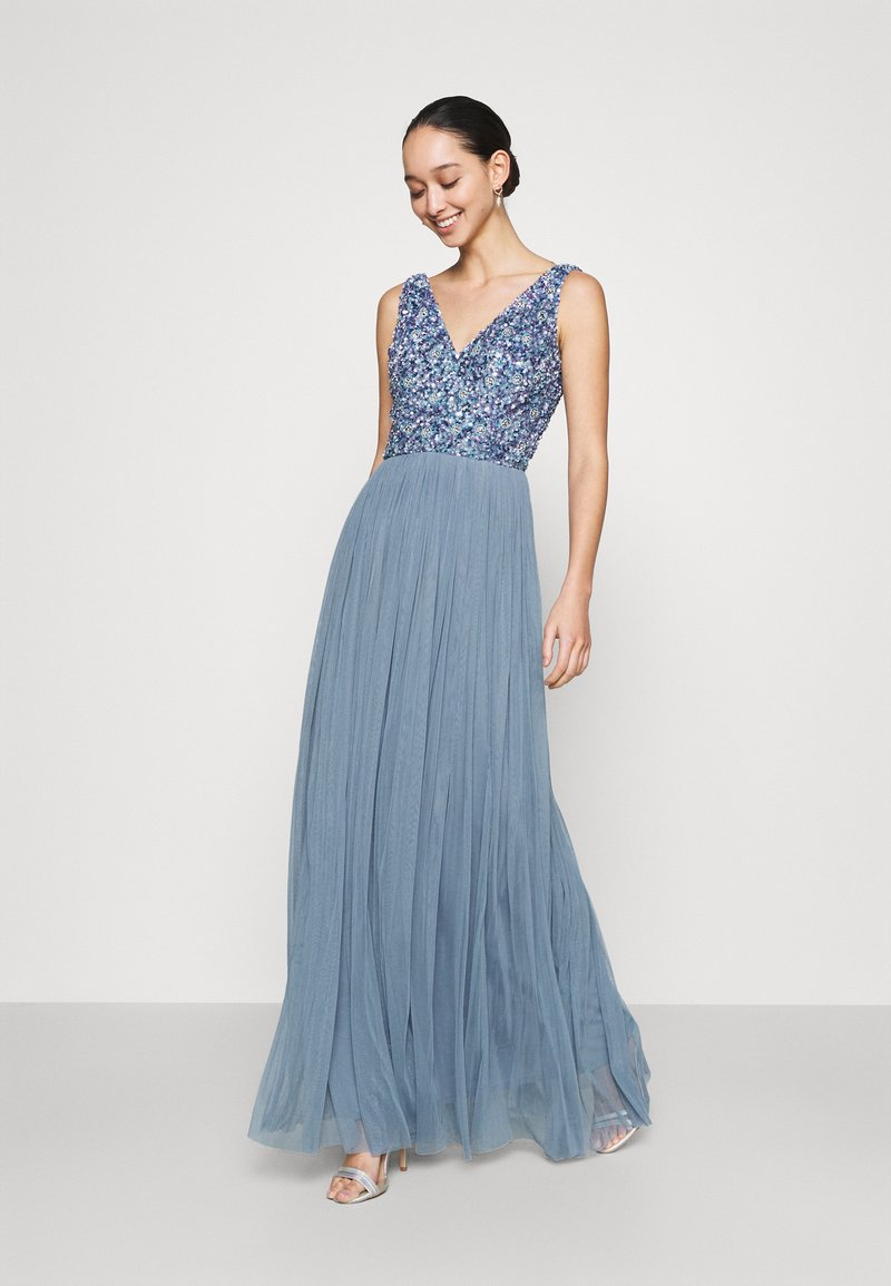 Lace & Beads - ALEXIS MAXI - Společenské šaty - blue