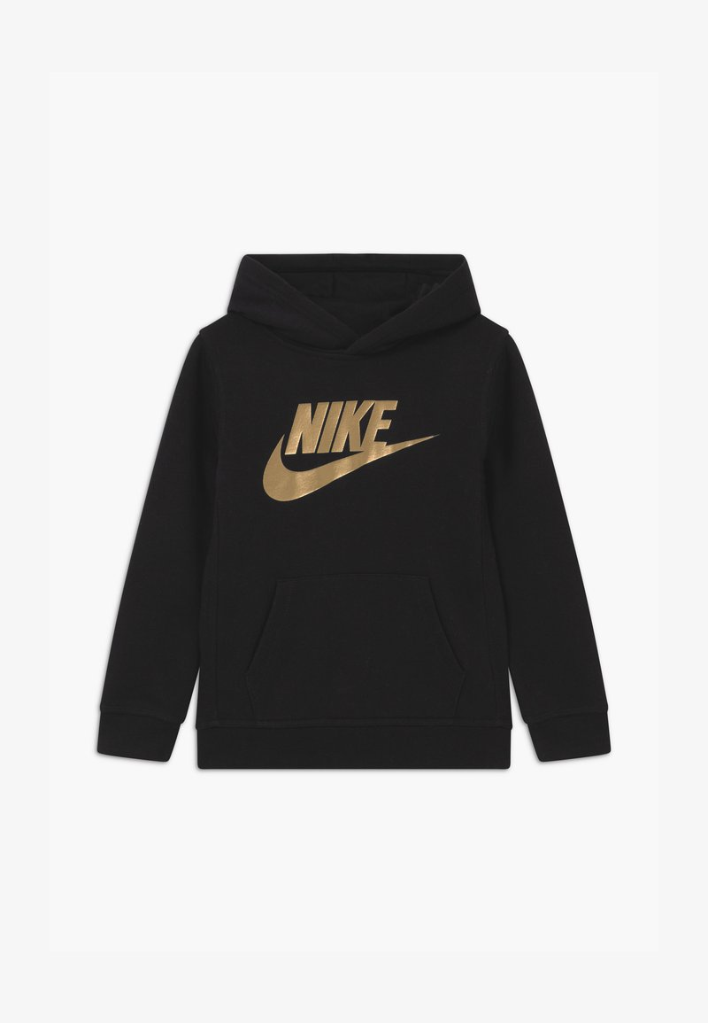 Nike Sportswear - SPORTSWEAR CLUB HOODIE - Hoodie - black/metallic gold