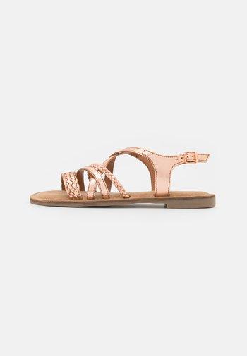 Sandales - rose gold metallic