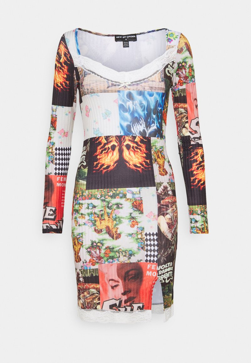 NEW girl ORDER - PATCHWORK MINI DRESS - Kjole - multi