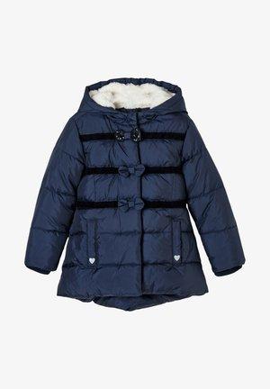 MIT SCHLEIFEN - Winter coat - blue