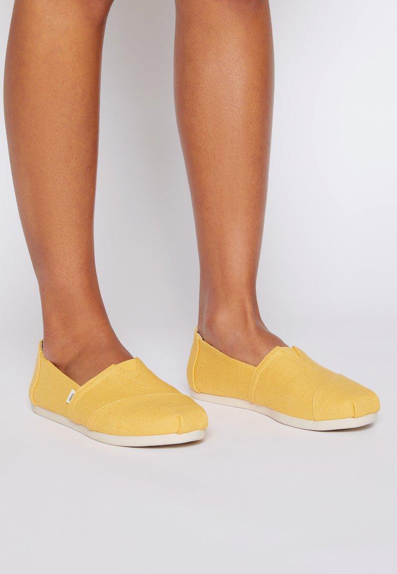 TOMS - ALPARGATA - Slip-ons - yellow