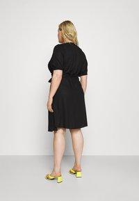 ONLY Carmakoma - CARMILLE LIFE DRESS - Day dress - black - 2
