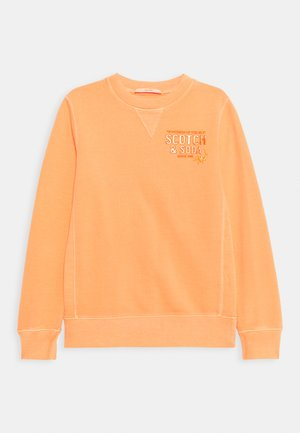 CREW NECK WITH ARTWORK - Sweatshirt - washed coral