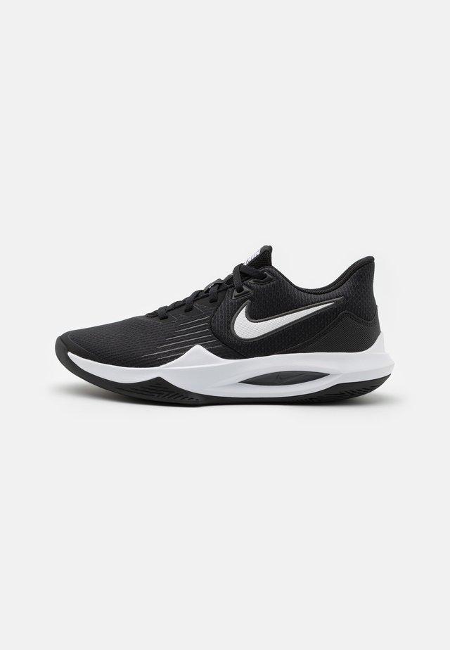 PRECISION V - Basketball shoes - black/white/anthracite/volt