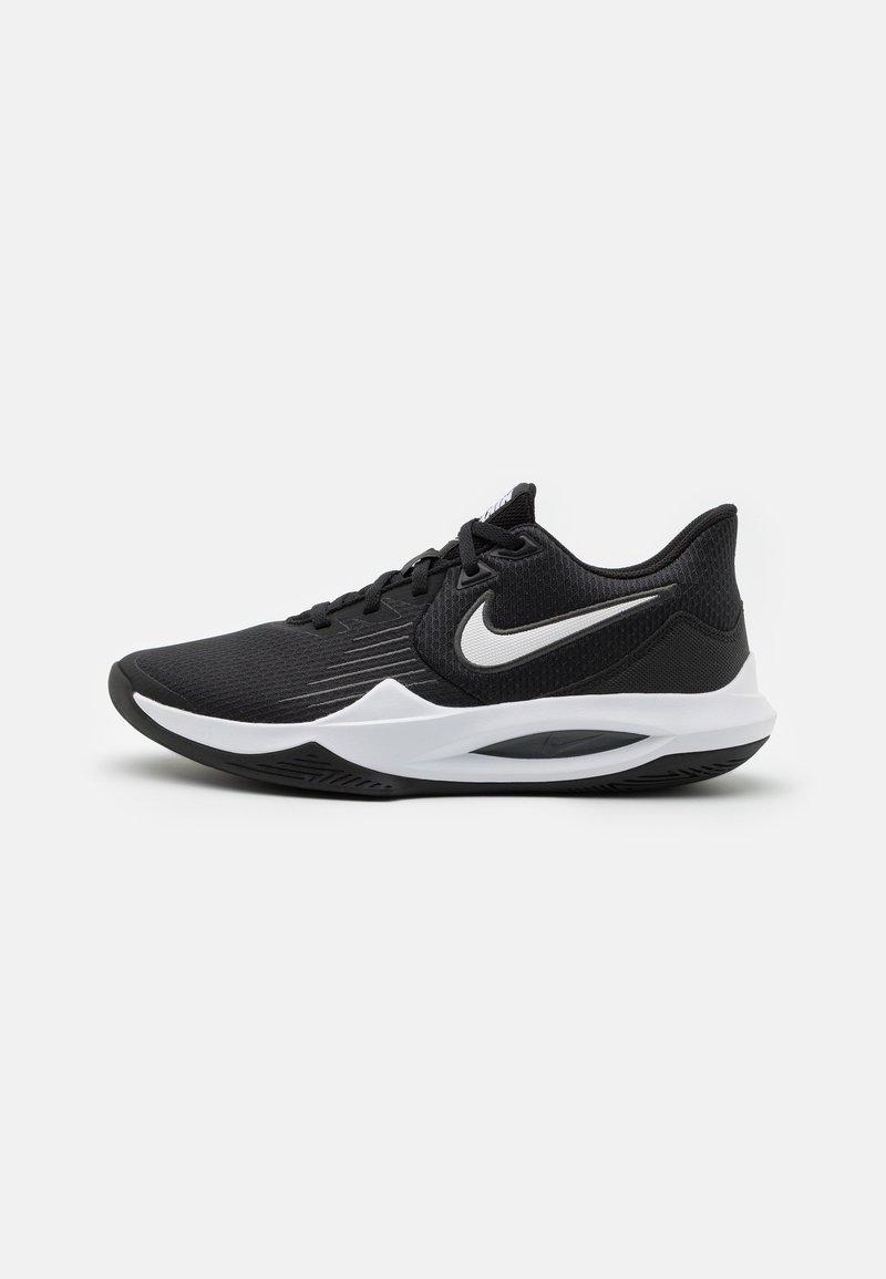 Nike Performance - PRECISION V - Basketball shoes - black/white/anthracite/volt