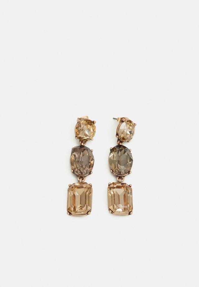 PCMAYA EARRINGS - Kolczyki - gold-coloured/brown/black