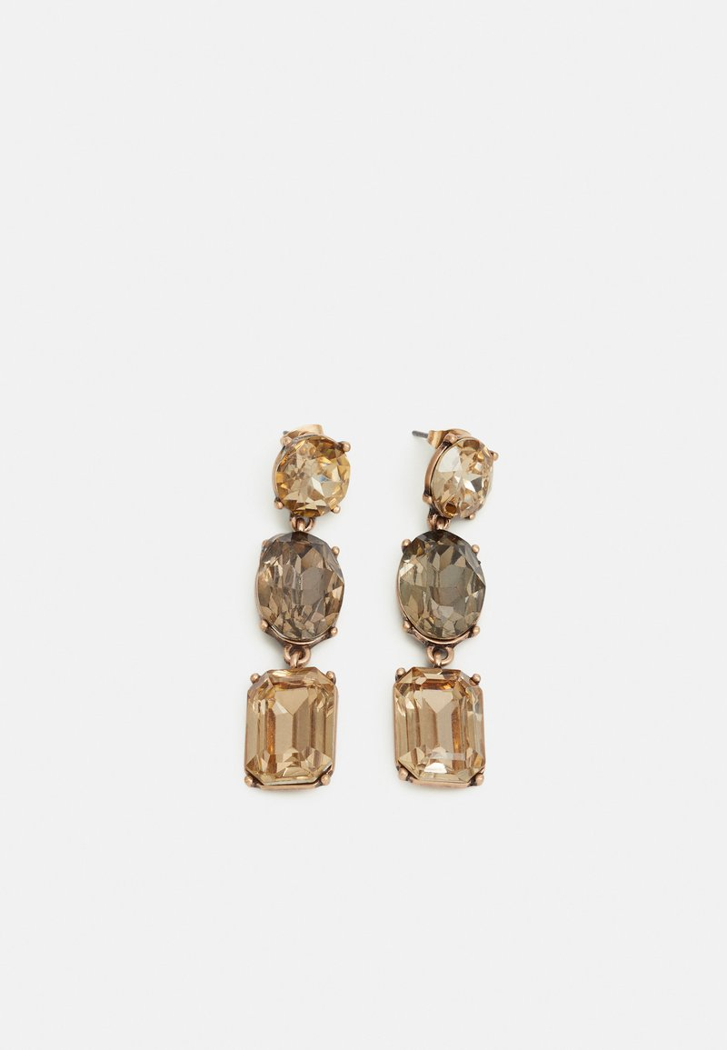Pieces - PCMAYA EARRINGS - Náušnice - gold-coloured/brown/black