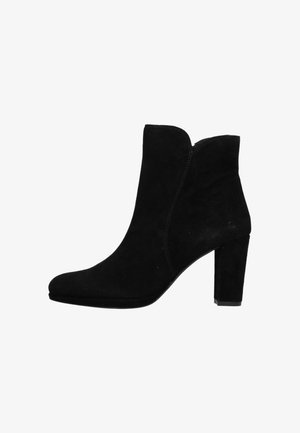 High heeled ankle boots - black/ black