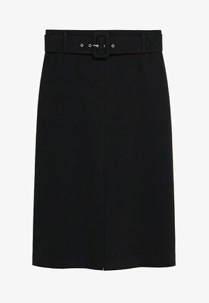 PENCIL - Spódnica trapezowa - schwarz