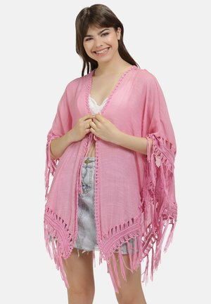 PONCHO - Cape - hellpink