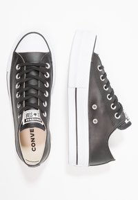 Converse - CHUCK TAYLOR ALL STAR LIFT CLEAN - Baskets basses - black/white - 3