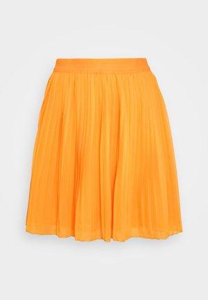 PLEATED SKIRT - A-line skirt - yellow