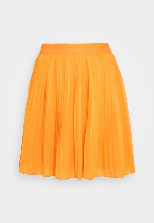 PLEATED SKIRT - Áčková sukně - yellow