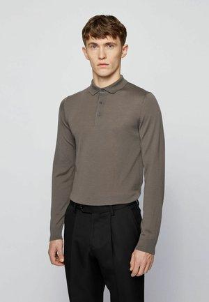 Polo shirt - open grey