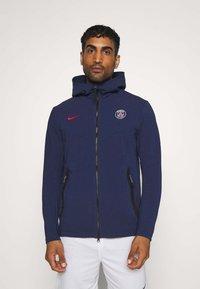 Nike Performance - PARIS ST GERMAIN HOODIE - Club wear - midnight navy/university red - 0