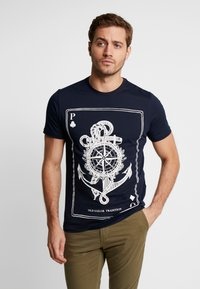 Pier One - Printtipaita - dark blue - 0