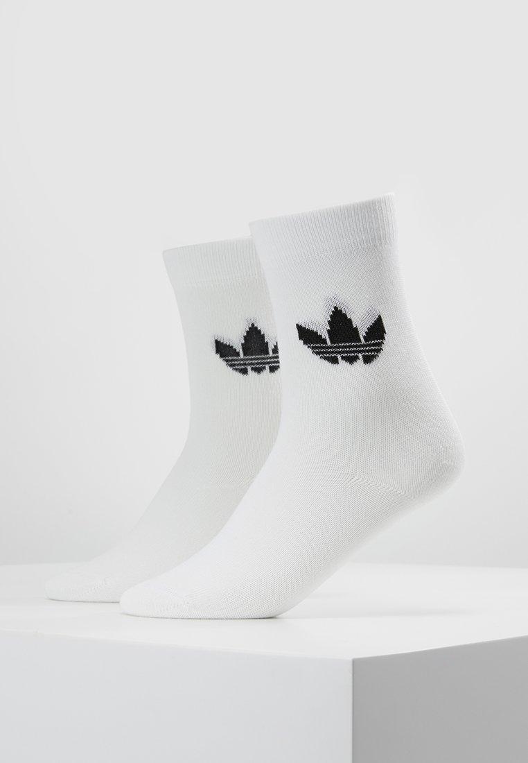 adidas Originals - THIN TREF CREW 2 PACK - Ponožky - white/black