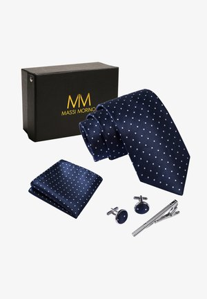 SET - Cravatta - dunkelblau gepunktet
