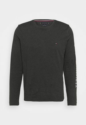 LOGO LONG SLEEVE TEE - Maglietta a manica lunga - dark grey heather